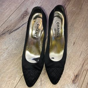 Chanel Black heels.